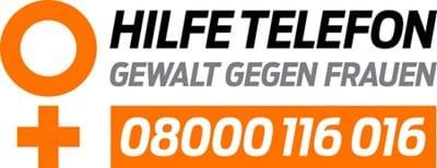 Logo Hilfetelefon Gewalt gegen Frauen